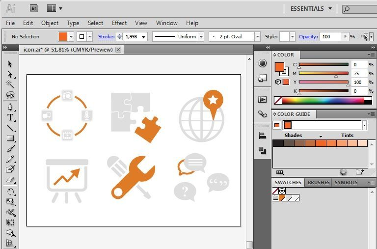 How to Recolor Icons in Illustrator