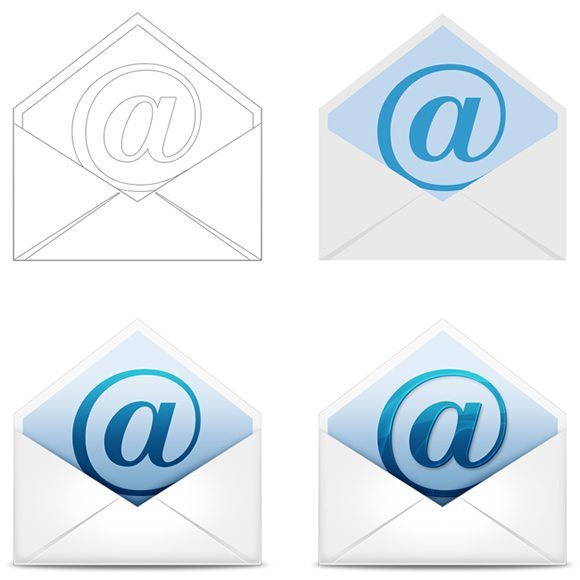 Email Icon Renders