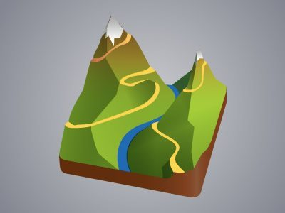 Terrain Mapping Desktop Icons