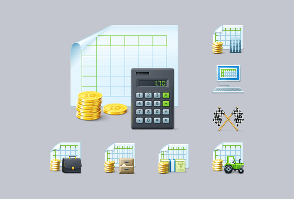 Accountancy Custom Icons for Windows Software