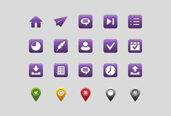 Delivery App UI Custom Icons