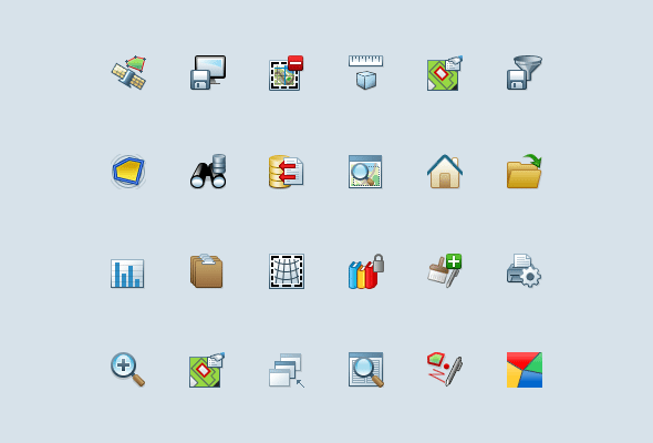 Windows Software Custom Mapping Icons