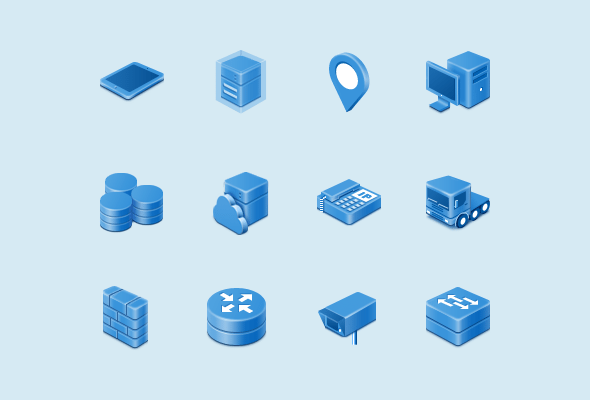 Network Analysis Custom Icons