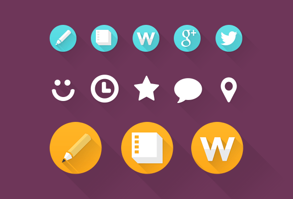 Flat Web Custom Icons