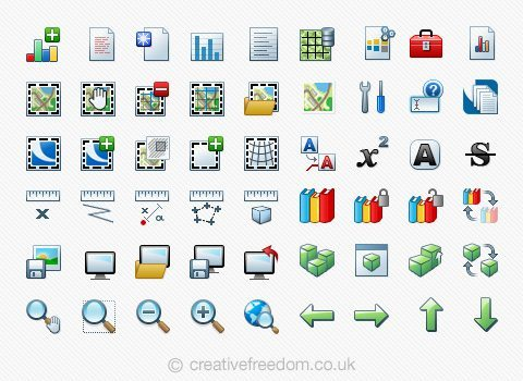 GIS Software Icons