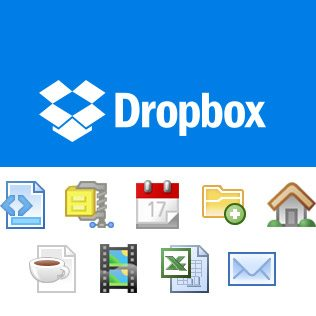 Dropbox Web Menu Icons