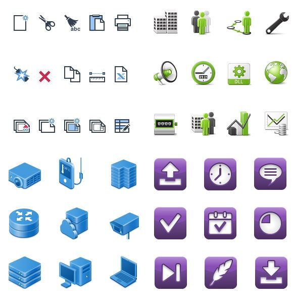 We design icons in many different styles