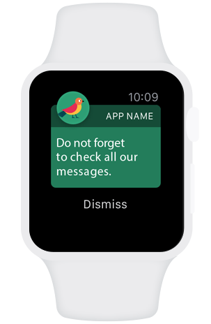 Apple watch notification icon