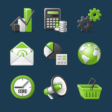 A choice of 12 icon designers