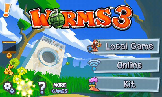 Worms 3 menu