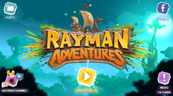 Rayman Adventures title screen