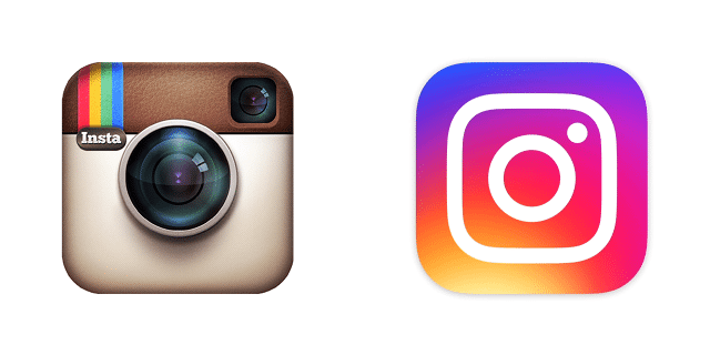 New and old Instagram app icons