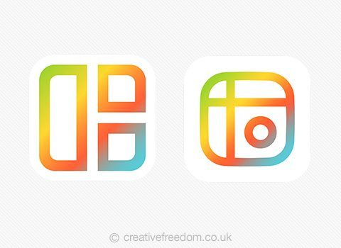 Mixgram iOS App Icon Shortlist Light BG