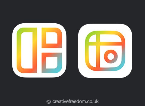 Mixgram iOS App Icon Shortlist Dark BG
