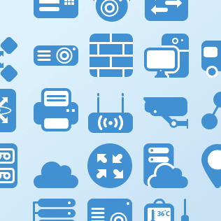 Flat Network Icons