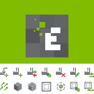 DEM Software Icons for EDEM