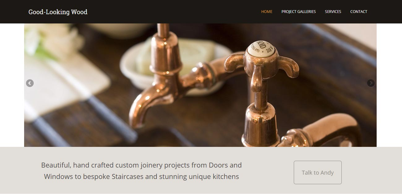 High End Joinery web design for Good-Looking Wood