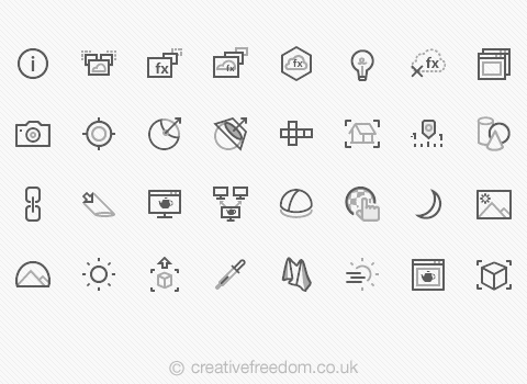 V-Ray UI icons for Chaos Group
