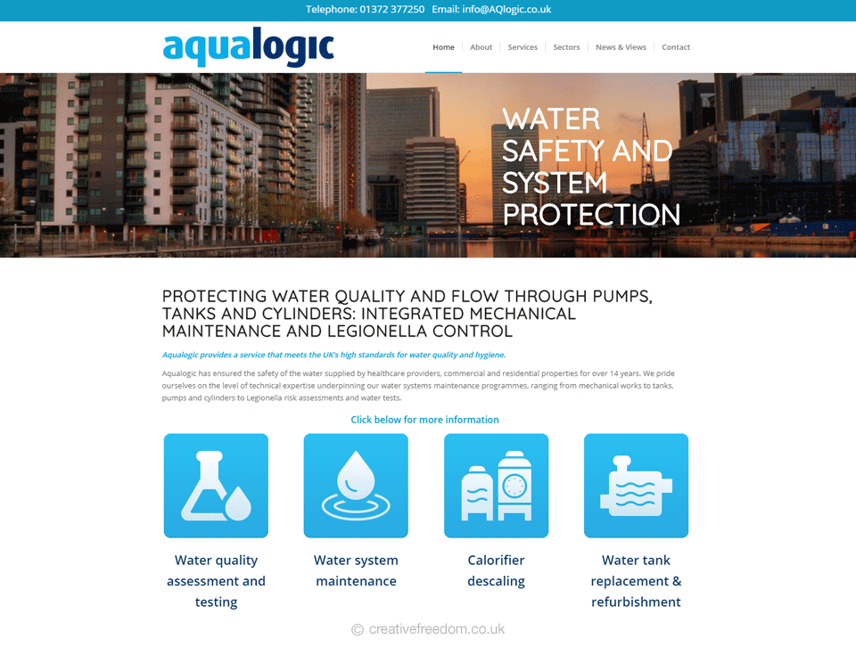 Simple, flat Water Treatment Icons for Aqualogic's Website