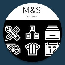 Custom icons for Marks and Spencer